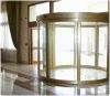 Polukružna staklena vrata